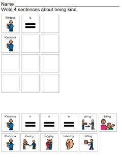 Interactive worksheet Kindness is