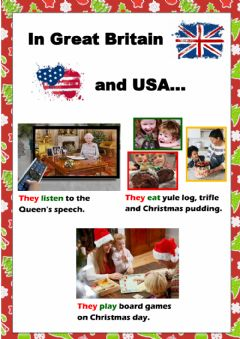 Interactive worksheet Christmas traditions comparison