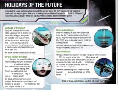 Interactive worksheet Holidays of the future