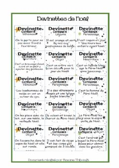 Interactive worksheet Devinttes noel