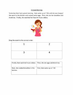 Interactive worksheet Sequencing: A great morning