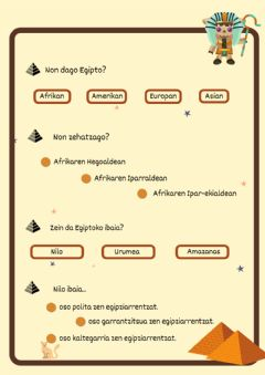 Interactive worksheet Egipto- Niloren uholdeak