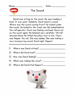 Interactive worksheet Reading Comprehension The Sound