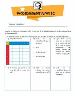 Interactive worksheet Probabilidades