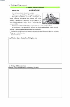 Ficha interactiva Reading and Writing Task-English Club