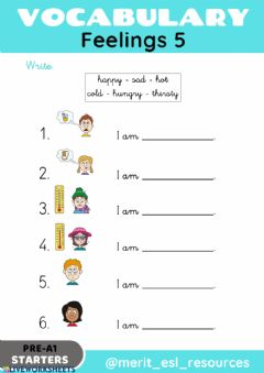 Interactive worksheet Feelings - Write