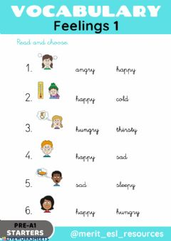 Interactive worksheet Feelings - Read and choose