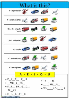 Interactive worksheet Vocabulary