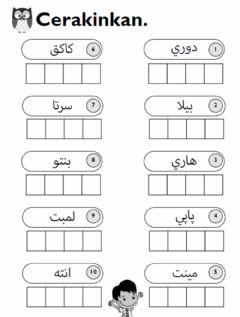 Interactive worksheet Ceraikan huruf