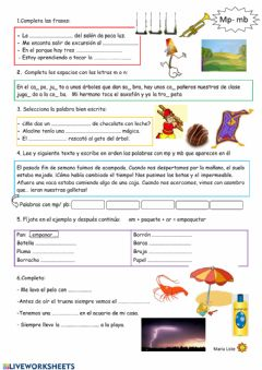 Interactive worksheet Palabras con -mp y -mb