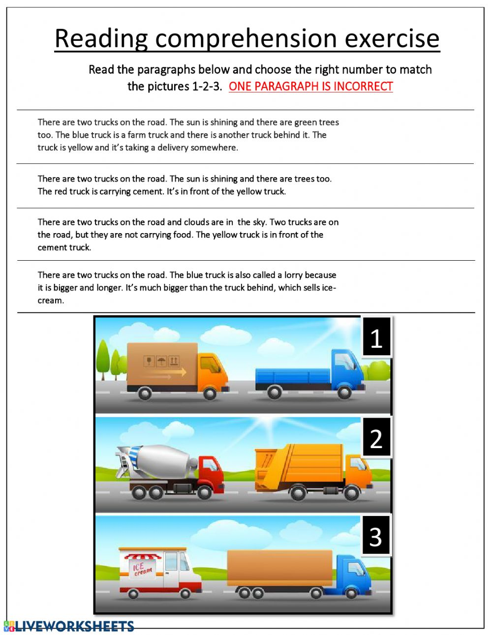 - Reading Comprehension Interactive Worksheet
