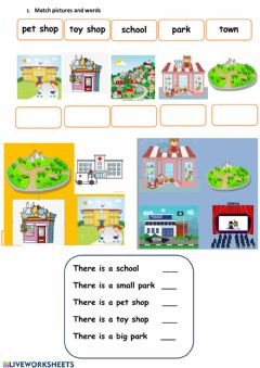 Interactive worksheet Town