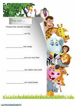 Interactive worksheet They can