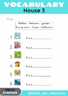 Interactive worksheet House - Write