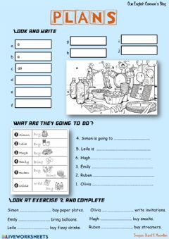 Interactive worksheet Plans