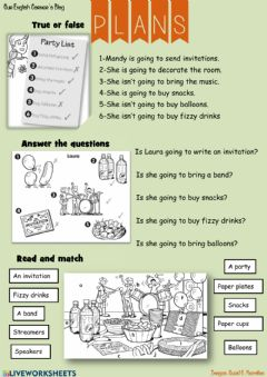 Interactive worksheet Plans 2