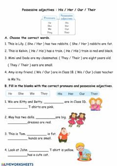 Interactive worksheet Pronouns and Pronoun Adjectives