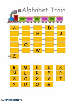 Interactive worksheet Alphabet train