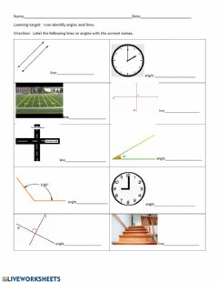 Interactive worksheet Lines and angels