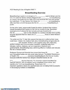 Interactive worksheet Reading - use of english part 1