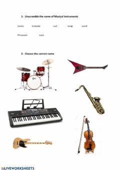 Interactive worksheet Musical Instruments