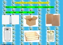 Ficha interactiva Materials and Containers