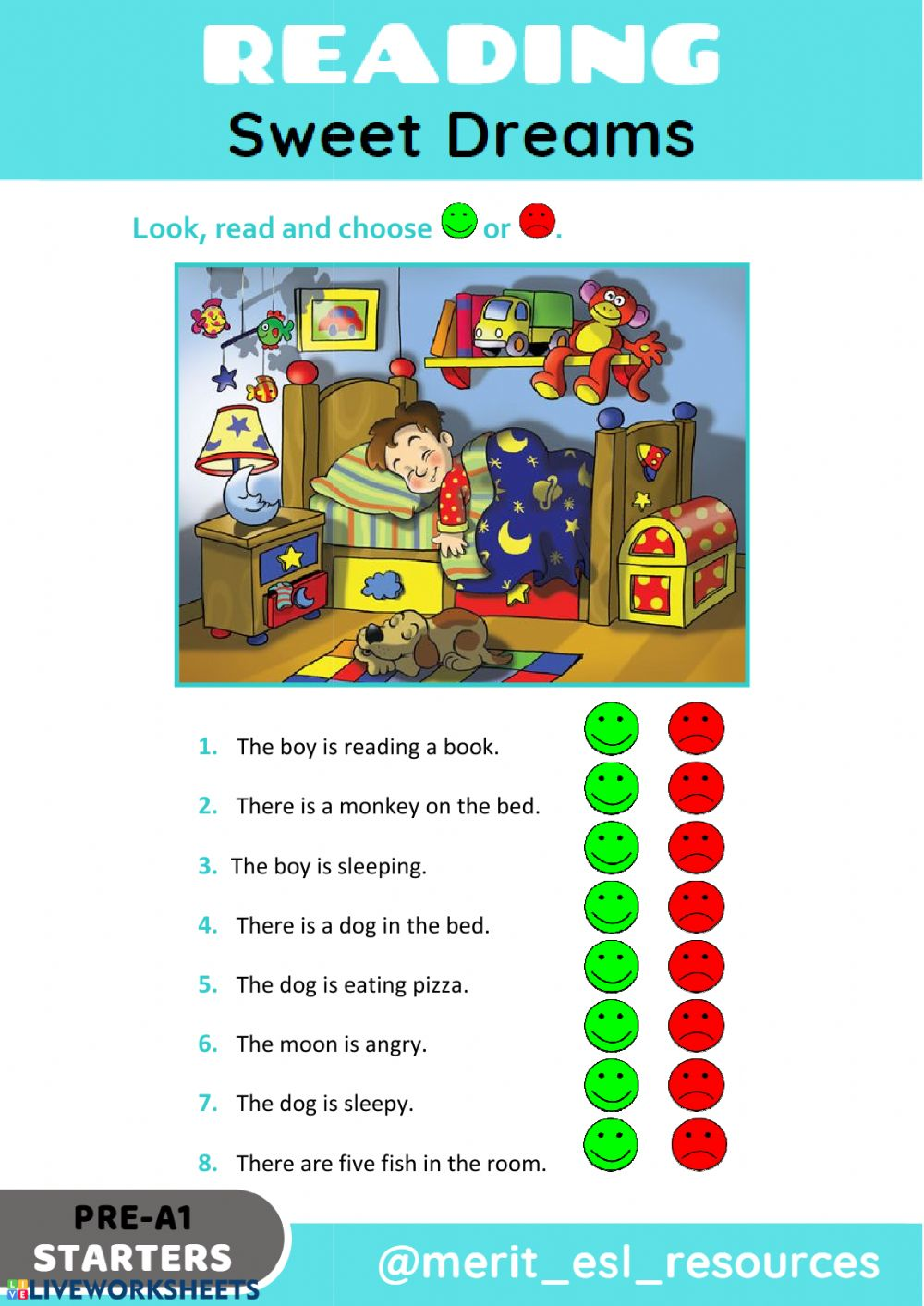 - Reading - True Or False: There Is - There Are Worksheet