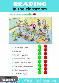 Interactive worksheet Reading - True or False