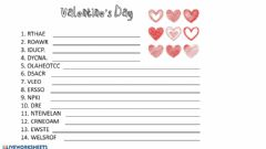Interactive worksheet Valentine's Day Scramble