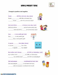 Interactive worksheet Simple Present