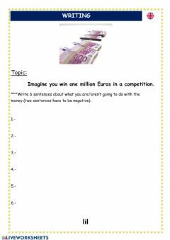 Ficha interactiva Writing task