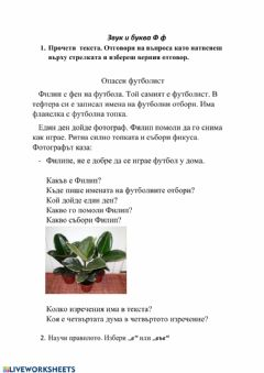 Interactive worksheet Цанкова
