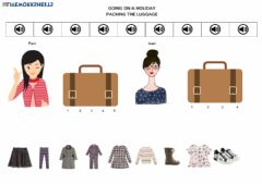 Interactive worksheet Packing the luggage