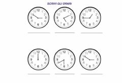 Interactive worksheet Orologio