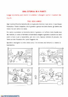 Interactive worksheet Una storia in 4 parti