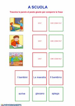 Interactive worksheet A scuola