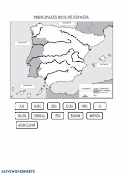 Interactive worksheet Rios de españa