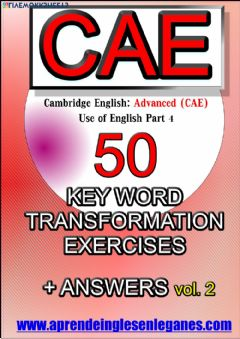 Ficha interactiva Key Word Transformations (CAE) (I)