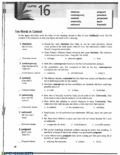Ficha interactiva Vocabulary from Context 16