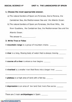 Interactive worksheet Social Scienc