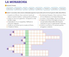 Interactive worksheet La Monarchia Romana