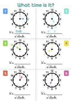 Interactive worksheet What time is it? - O'clock