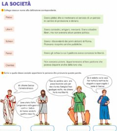 Interactive worksheet La Società Romana