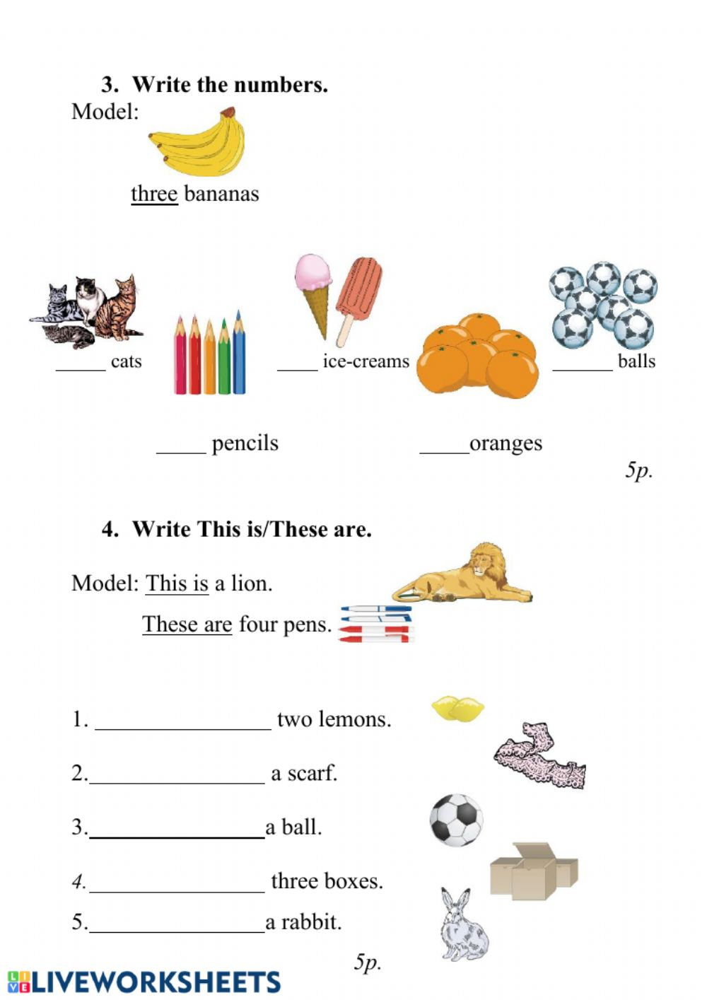English 2nd grade - Interactive worksheet