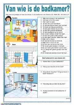 Interactive worksheet Van wie is de badkamer?