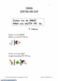 Interactive worksheet Zertan ari