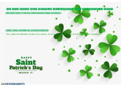 Interactive worksheet St. Patrick's Day