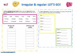 Interactive worksheet IRREGULAR AND REGULAR VERBS