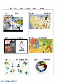 Interactive worksheet Can can-t