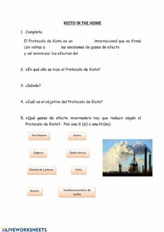 Interactive worksheet Protocolo de Kioto